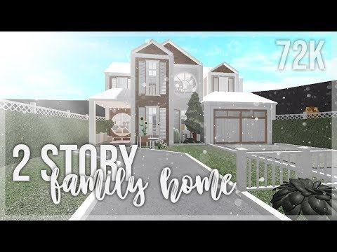 Bloxburg House Ideas 2 Floor In 2020 Diy House Plans Family House Plans Two Story House Design