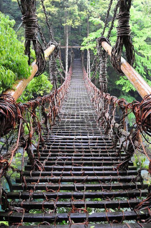 Kazura Bridge, Tokushima, Japan.