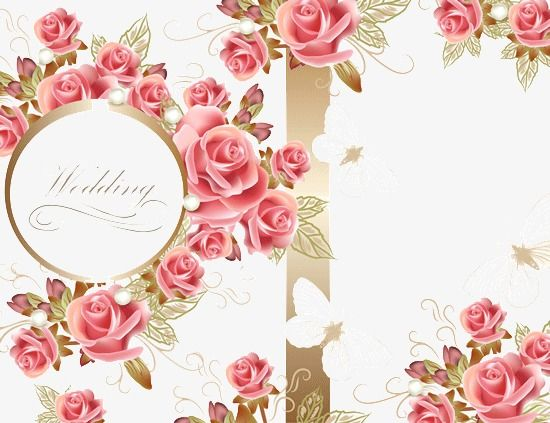 Wedding Invitations Wedding Clipart Romantic Flower Png