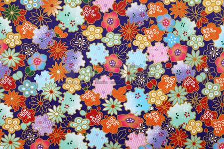 Traditional japanese pattern origami paper texture background Stock Photo