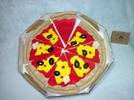 Pizza em fatias