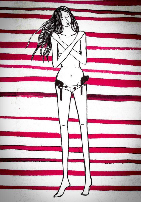 Desenho de ►Rita Wainer◄ para o Livro ❝Trinta e Oito e Meio❞ de Maria Ribeiro.