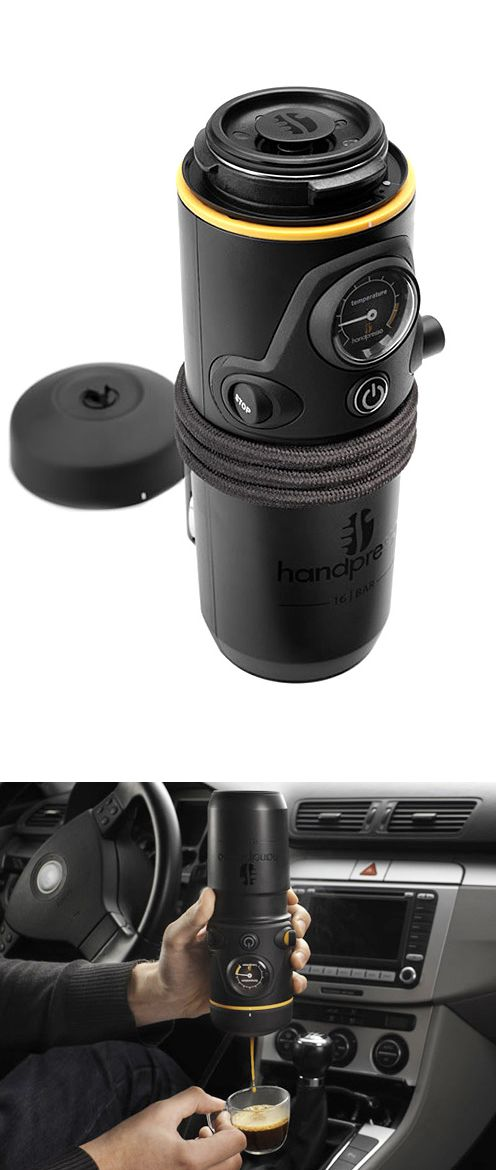 Car accessories espresso maker and coffee on pinterest - Portable coffee maker for car ...