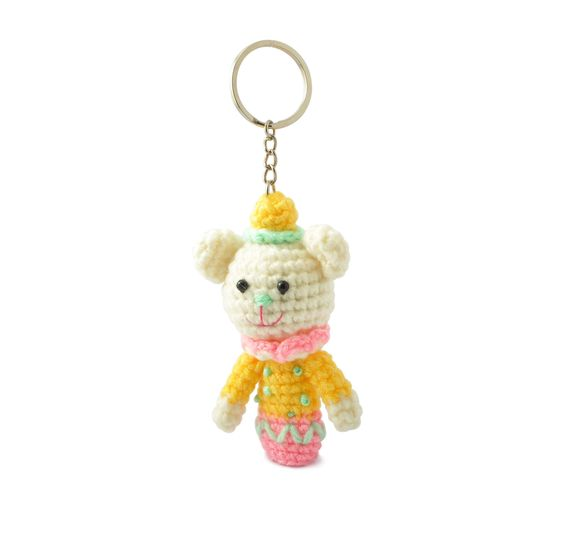 Amigurumi Stuffed Set of Finger Puppets Toys Keychains Keyrings VKC