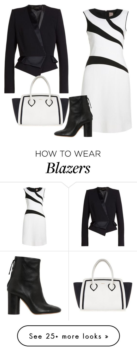"""Black and White"" by sillycatgrl on Polyvore featuring Isabel Marant, Alexandre Vauthier and Furla"