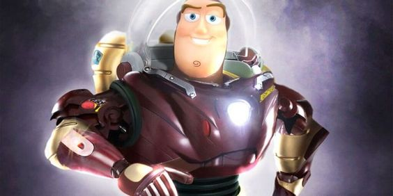 Buzz Lightyear in Iron Man Costume