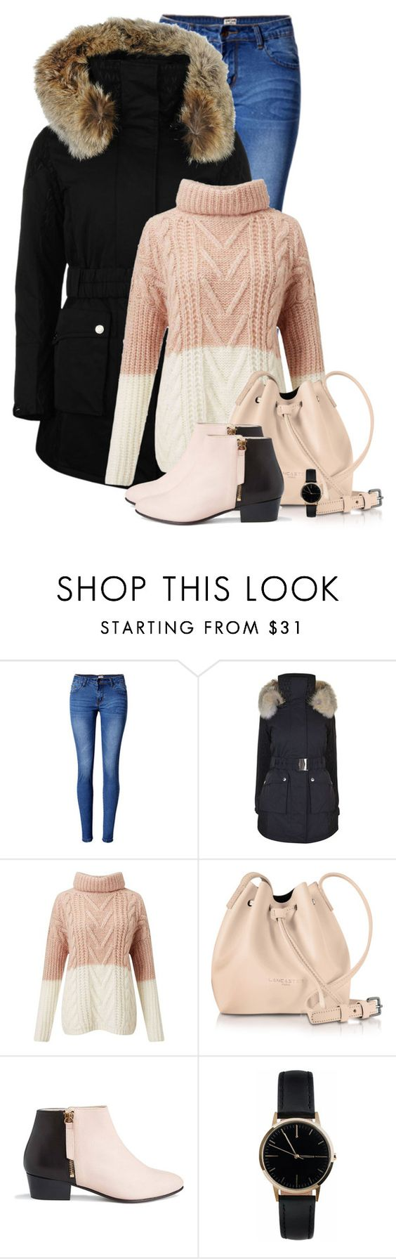 """""""Parka"""" by barbarapoole ❤ liked on Polyvore featuring WithChic, K100 Karrimor, Miss Selfridge, Lancaster, Nine to Five and Freedom To Exist"""