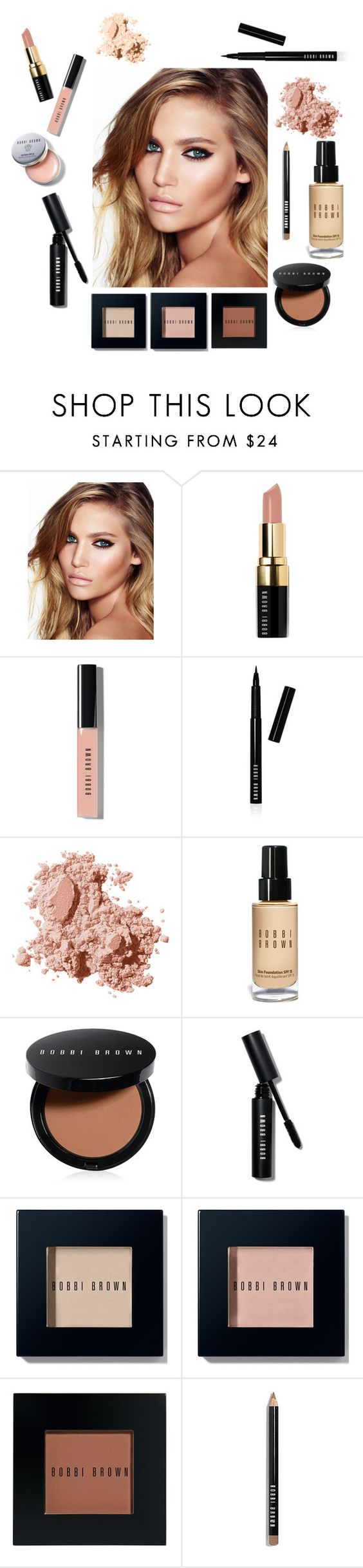 """Bobbi Brown Glow Look"" by mckenziemeland ❤ liked on Polyvore featuring beauty, Charlotte Tilbury, Bobbi Brown Cosmetics, Beauty, pretty, peach and makeup"