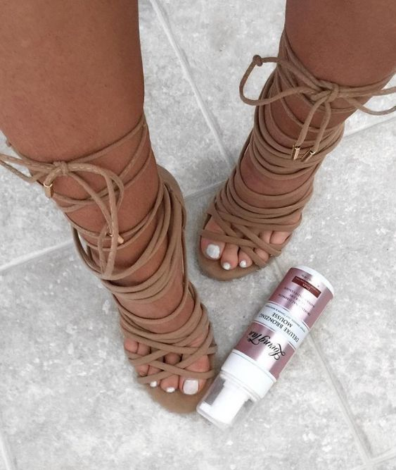 nude strappy heels addict