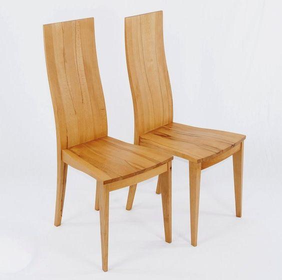 4x KENT Design Holzstuhl Kernbuche massiv, geölt (Stühle)   Möbel