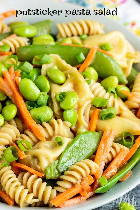 A Summer Classic With A Twist Potsticker Pasta Salad Is Loaded