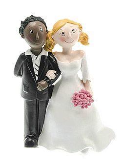 figurines mariage couple mixte femme blanche homme black pour mettre une touche finale sur votre - Figurine Mariage Mixte