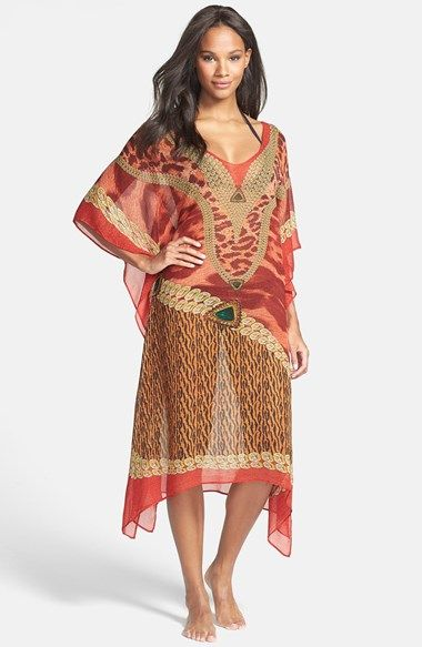 SHAWLUX SeaLux 'Scarlet Siren' Silk Cover-Up available at #Nordstrom