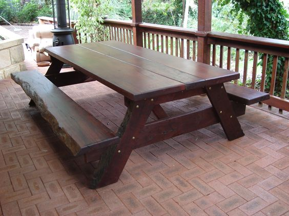 Very solid heavy table with natural edge features, each one is unique.