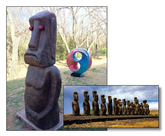 When vertical concrete becomes art, its EPIC! On the left is The Stamp Store's Moai and on the right is our inspiration.