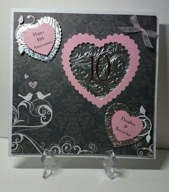 Tin 10th Wedding Anniversary Card