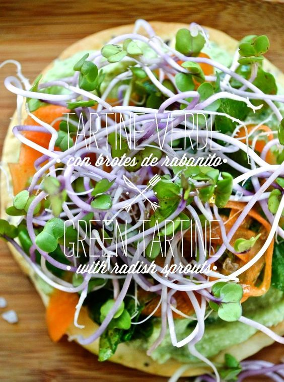 ... WITH RADISH SPROUTS | Recetas verduras | Pinterest | Sprouts and Green