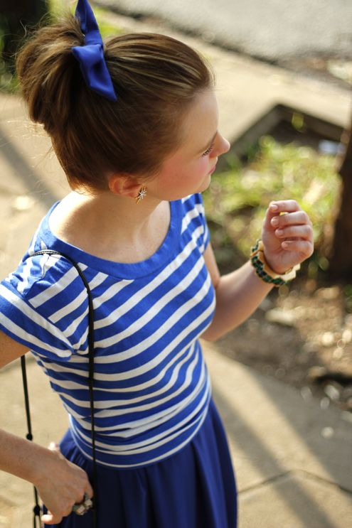 A Gap striped T as featured on the blog Poor Little It Girl.