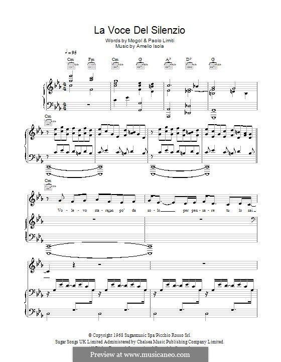 La Voce Del Silenzio Andrea Bocelli Music Publishing Music