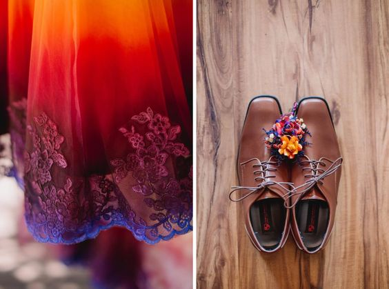 A Woodsy Summer Wedding inspired by Colors of the Sunset & Night Sky Photographer: James Tang Photography