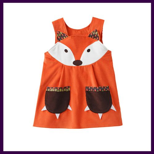 Cute Wild Things Fox Dress now available with free UK delivery at  http://www.littlebuttonsboutique.co.uk/catalog/wild-things-2/