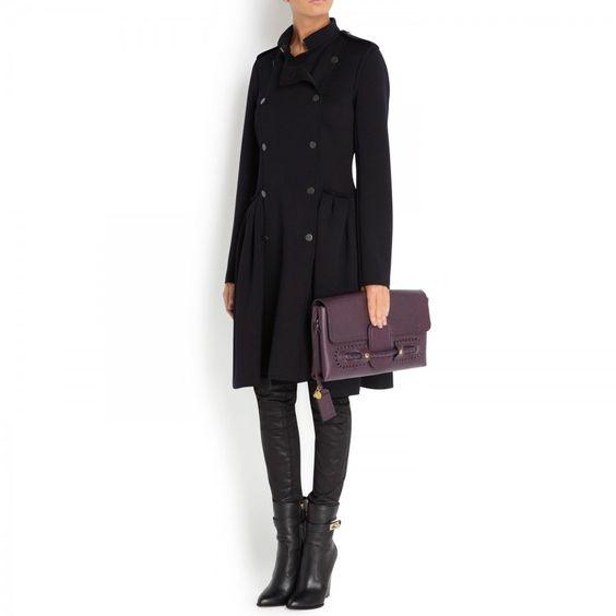 Wool blend coat, Long, Harvey Nichols Store View