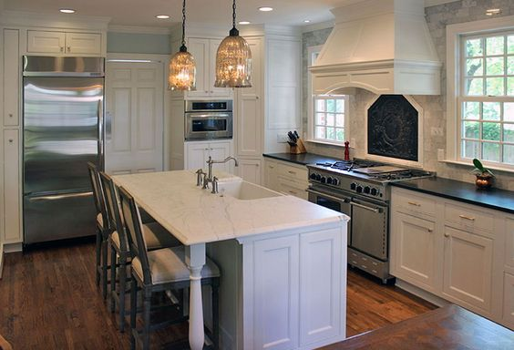 This Beautiful White Kitchen Boasts High End Stainless