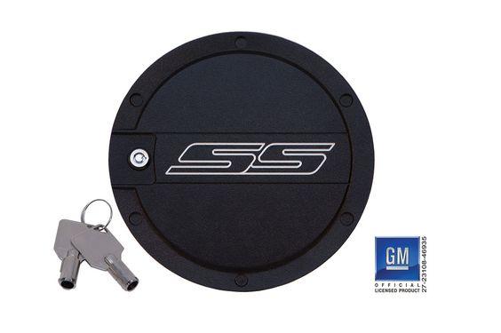 2010 - 2015 Defenderworx Camaro SS Logo Locking Fuel Door