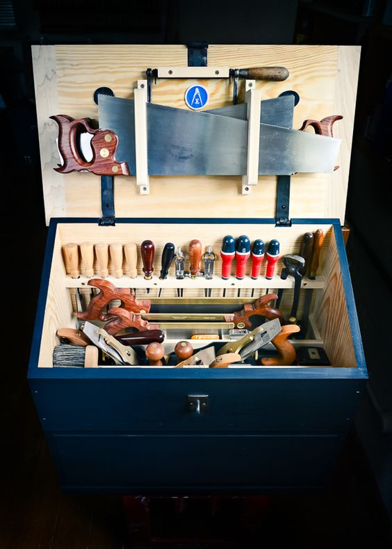 Inside Ed's Dutch Tool Chest on Things{we}make | Fusteria | Pinterest | Boxes, Dutch and We