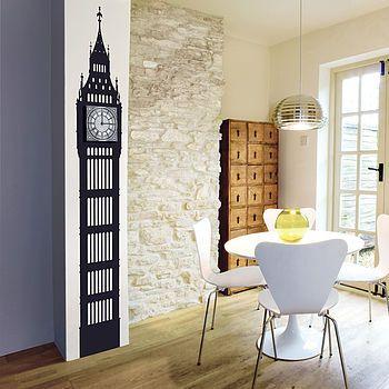 Big Ben Wall Sticker Clock Not on the highstreet.com