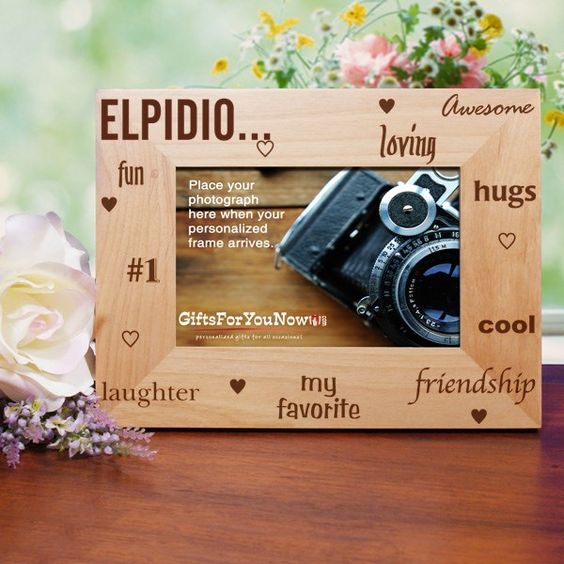 Personalized Aunt Photo Frame | Engraved Wood Photo Frame from GiftsForYouNow.com