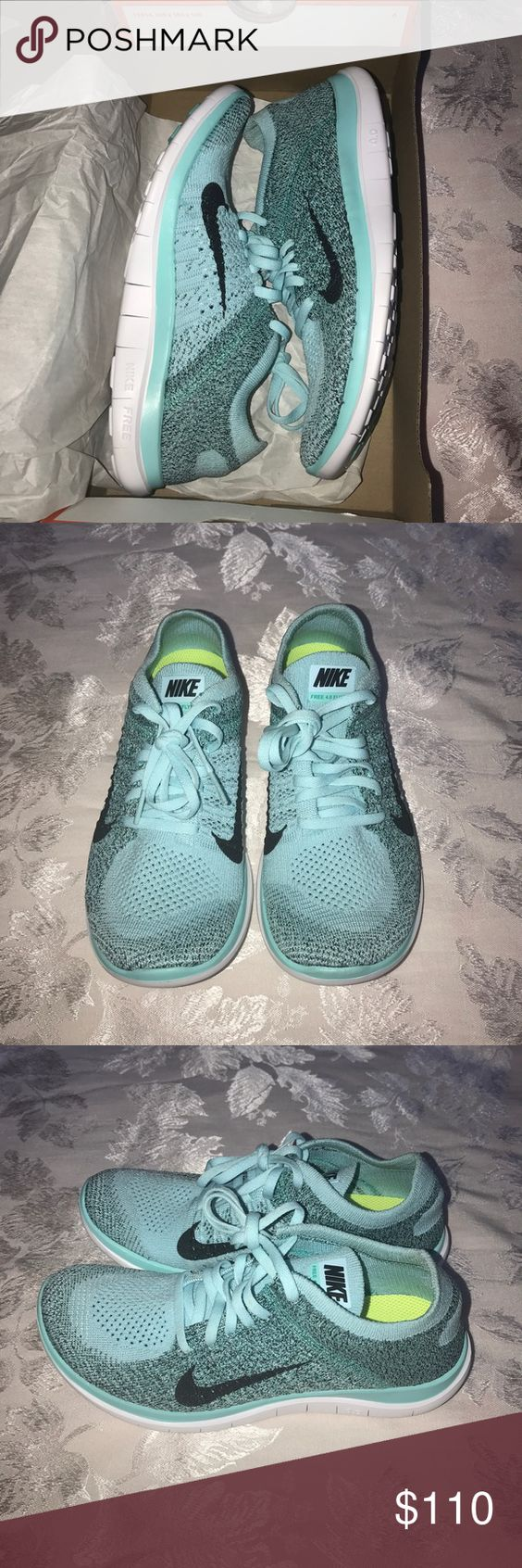 Women's Nike shoes Women's Nike free 4.0 flyknit. New in box, never worn. Size 7 in turquoise Nike Shoes Athletic Shoes
