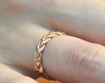 Geflochten Rotgold Ring Ehering Rotgold Rotgold Ringe von MayaMor