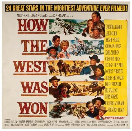 "MOVIE POSTER FOR THE CINERAMA FILM ""HOW THE WEST WAS WON"" (1962"