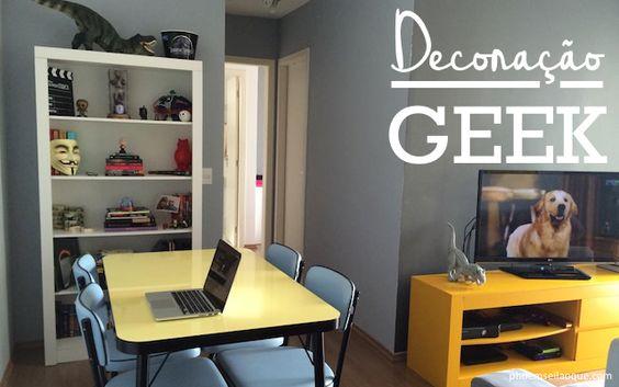 Decoração Geek http://www.phdemseilaoque.com/2015/08/decor-o-geek-na-casa-de-gente-grande.html