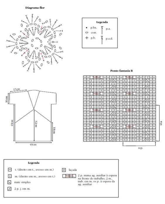 Tamanho: 38/40 Material: •4 nov. FioCisne Sirena (nov. de 100 g) na cor 2929 (pink); •ag. para tricô Corrente Milward nº 4,5; •ag. Tapestry Corrente Milward nº 18 para as costuras; •ag. de alumínio para crochê Corrente Milward nº 3 (mm).    Tensão do ponto: 10 x