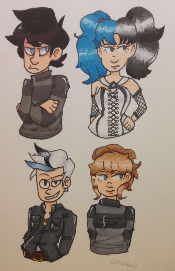 some of @INTPartgeek 's ocs! sorry if any if the details/colors are off! ;-;