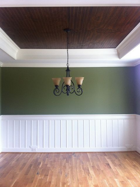 Küchenleisten Hornbach ~ [ wide wainscoting ] dining room wall treatment idea a plate rail assembly, wide plank