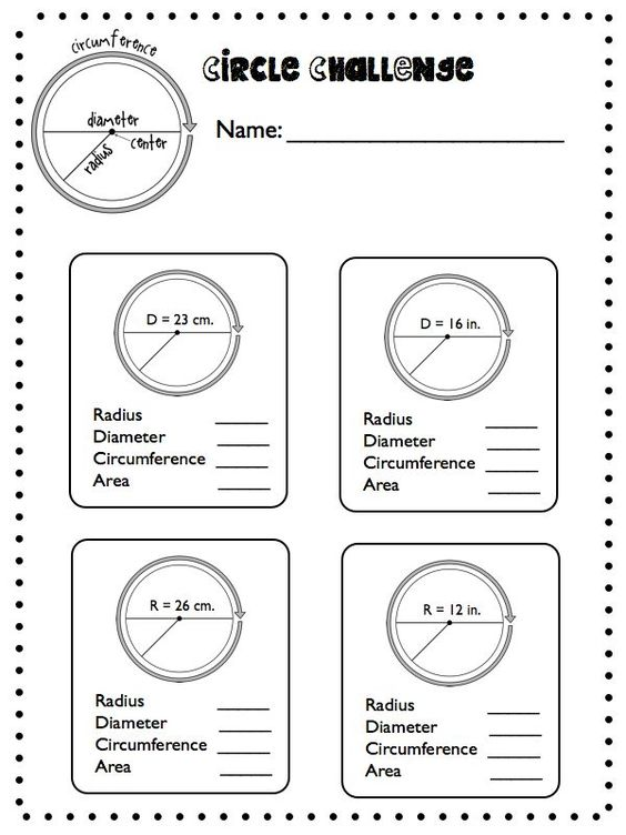 Diameter and radius worksheets free worksheets library download radius diametercircumference geometry worksheets circle worksheets ccuart Gallery