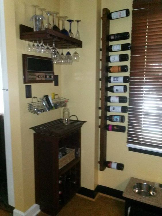 Done Small Kitchen Custom That Means Me Wine Storage