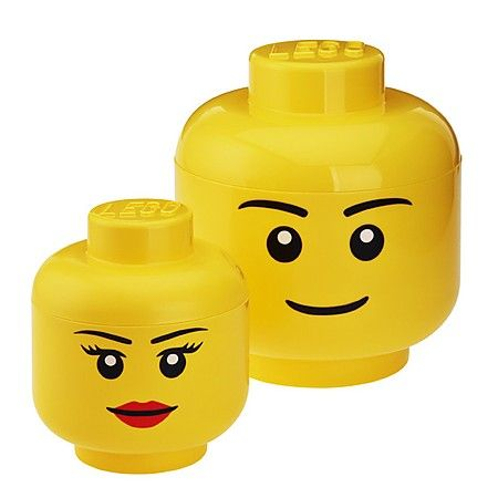 Cabeza Lego recipiente