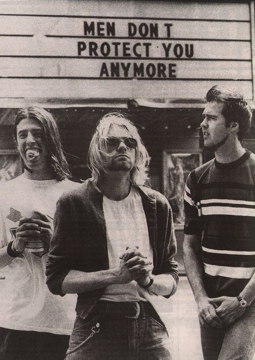 OH MAN. Nirvana in front of Jenny Holzer. I'd love a print of this.