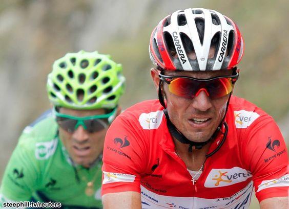 When Joaquim Rodriguez (Katusha) failed to respond to Alberto Contador's move, Alejandro Valverde (Movistar), who also had teammates up the road, attacked