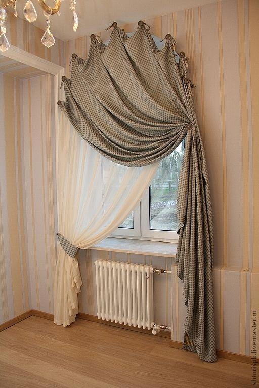Шторы для арочного окна с полукруглым верхом, заказать Пермь