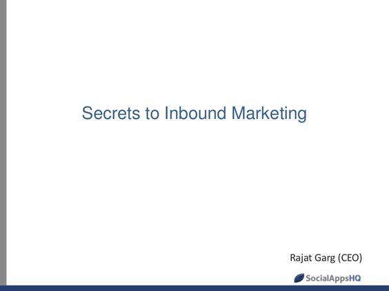 inbound-marketing-23134057 by ProductNation.in via Slideshare