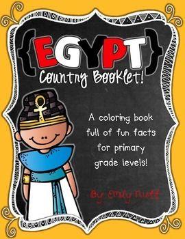 Egypt Booklet (A Country Study!) -- Use during social studies units about countries around the world! TeachersPayTeachers