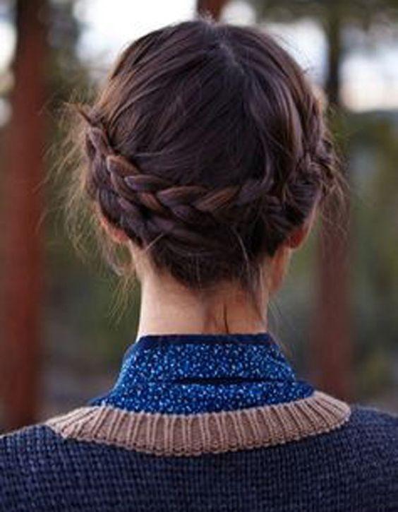 coiffure cheveux mi longs rapide et facile automne hiver