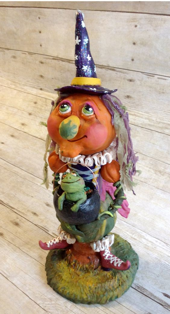 Pumpkin Princess Witchie: Halloween by christalynnlawrence on Etsy