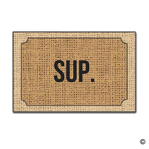 Tdou Sup Doormat Welcome Doormat Floor Entrance Outdoor /& Indoor Decor Rug Rubber Non Slip Doormat 23.6 X 15.7 inches