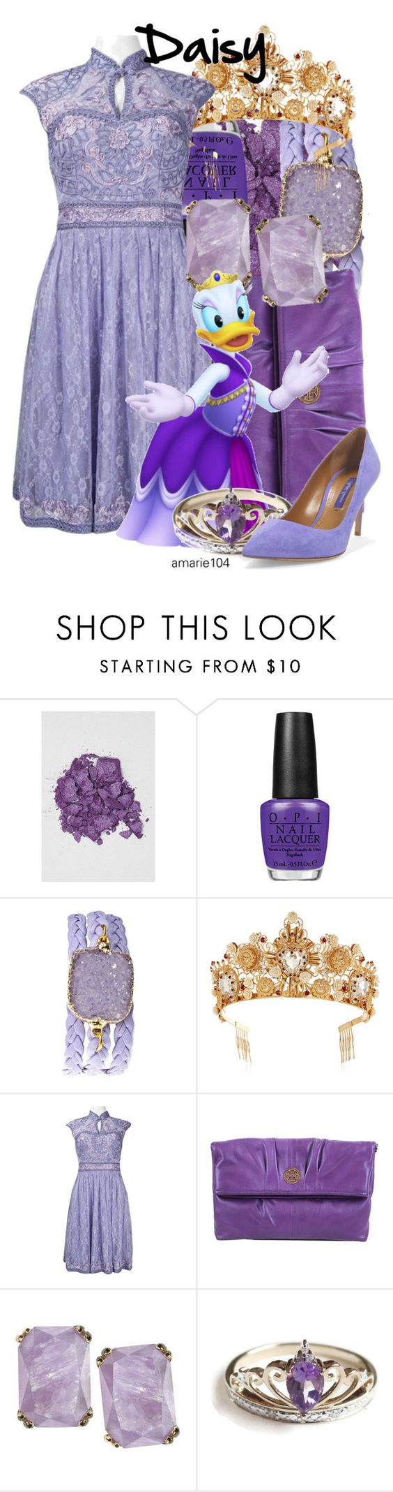 """Daisy"" by amarie104 ❤ liked on Polyvore featuring Anna Sui, OPI, Alexandra Beth Designs, Dolce&Gabbana, Sue Wong, Tory Burch and Ralph Lauren"